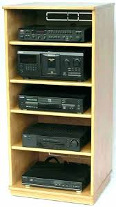 audio component shelves stereo cabinet inches high with 4 adjule plans