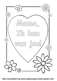 Kleurplaat Hart Valentijn Moederdag Vaderdag Anneler Gunu