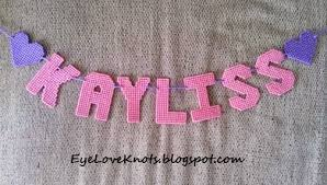 diy plastic canvas name banners great