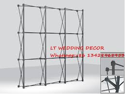 Aluminium Display Stands Gorgeous Aluminum Flower Wall Stand Frame For Tradeshow Straight Tension