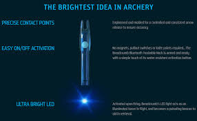 Breadcrumb Bluetooth And Led Illuminating Archery Arrow Nock For Hunting Arrow Or Crossbow Bolt