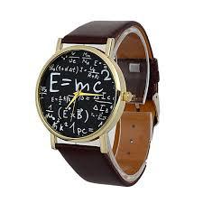 2017 luxury einstein e mc2 equation mathematical formula math symbols faux leather og quartz watch watch wrisch in quartz watches from watches on