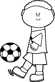 Small Picture Kids Kick Soccer Ball Playing Football Coloring Page Wecoloringpage