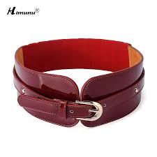 fashion women elastic belt pin buckle cowskin genuine leather belt for women wide waist belts casual luxury belts womens karate belts designer belts from