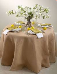 96 inch round top quality burlap lined table skirt passe partout collection