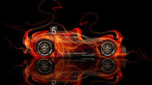 chevrolet corvette stingray fire abstract car