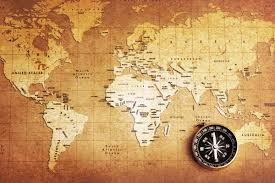 old compass world map