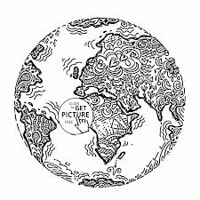 Planet Earth Earth Day Coloring Page