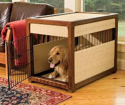 orvis dog crate furniture. Plain Dog The Nicer Metal Wood And Faux Rattan Crate And Orvis Dog Furniture