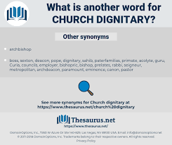 Words For Church Synonyms For Church Dignitary Thesaurus Net