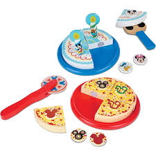 Melissa Doug Mickey Mouse Wooden Pizza And Birthday Cake Set 32
