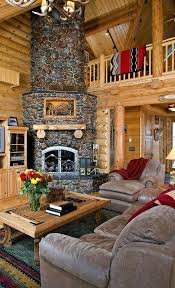round rock fireplace not one for rock fireplaces but i really like this one log home