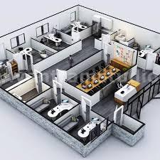 Office Design Plan 3d Commercial Office 3d Floor Plan Rendering Service With