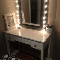 best vanity lighting for makeup. bathroom white wooden makeup table with lighted mirror added chair using and best vanity lighting for h
