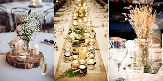 Mason Jar Wedding Table Decorations