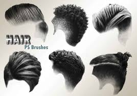 Hair Photoshop 20 Hair Male Ps Brushes Abr Vol 3 People Photoshop