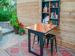 how to build a fold down outdoor bar