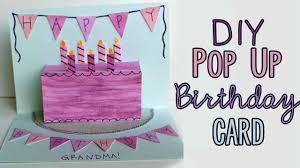 Diy Kids Birthday Card Diy Pop Up Birthday Card