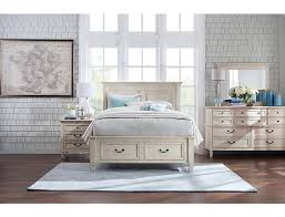 Lakeshore White Queen Storage Bed