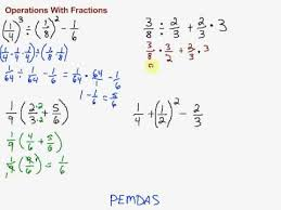 Multiple Operations With Fractions - YouTubeMultiple Operations With Fractions