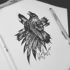 тату эскиз ворон в христианской религии ворон это злая птица