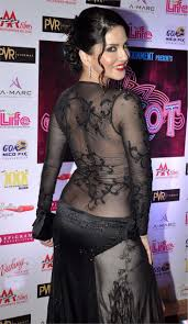 leone transparent back less hot dress