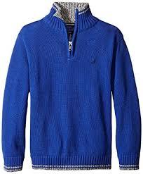 Amazon Com Nautica Little Boys Zip Neck Sweater With