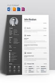 Minimal Creative Cv Resume Template New Website Templates