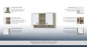 Hängeschrank 24 Farbe Esche Weiß Abmessungen 82 X 128 X 37 Cm