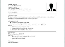 Resume Outline Sample Good Simple Resume Samples Sample Of Cv Format