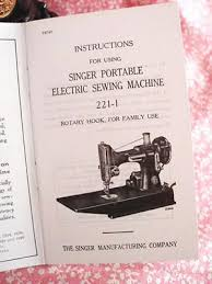 Singer Sewing Machine 221 Manual