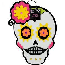 sugar skull felt décor pink