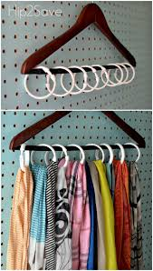 an unruly scarf collection organization homes