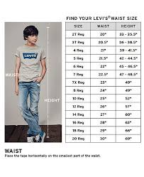 Levi Size 14 Chart 511 Slim Fit Jeans Big Boys