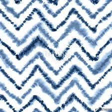 navy blue geometric moroccan rug with zigzag ornament seamless watercolor pattern