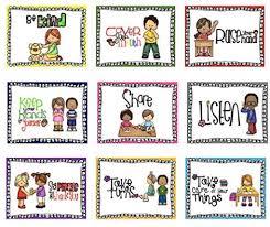 Good Habits Chart For School Healifty 9pcs Classroom Rules Poster Good Habits Manner