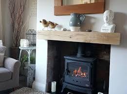 oak fireplace mantel beam solid shelf