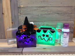 Design Master Tint It Spray Paint Halloween Glass Block Diy Painting Projects Uses Sea Glass