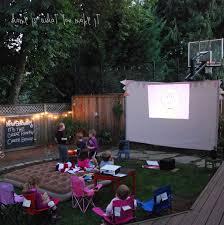 Backyard Movie Night | Home Outdoor Decoration