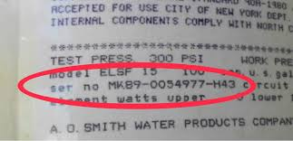How Can I Tell The Age Of An A O Smith Water Heater From