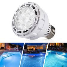 Hayward Swimming Pool Lights Underwater Amazon Com Sunluway 120v 25 W E26 Led Pool Light Bulb Led