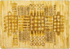vintage mid century modern scandinavian rya rug 45650