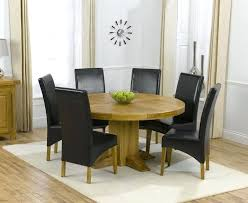 oak round dining table 6 leather chairs white with tables for seater size in feet