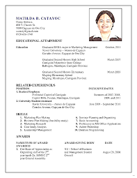How Make Resume For First Job With Example Fine Captures U2013 Studiootb