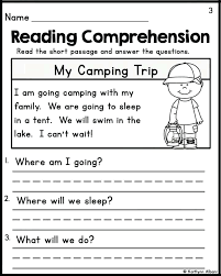 Simple Reading Comprehension Worksheets Fresh Simple Comprehension ...