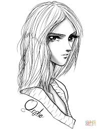 Small Picture Orphe Anime Girl by Gabriela Gogonea coloring page Free