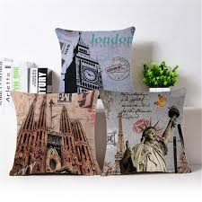 cushion cover retro london promotion shop for promotional cushion