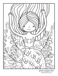 Are you looking for some free printable cute coloring pages for you kid? 30 Mermaid Coloring Pages Free Fantasy Printables Print Color Fun