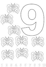 Numbers Coloring Pages For Toddlers Number Worksheets Toddlers