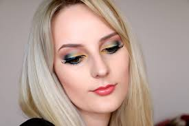 bright yellow spring makeup tutorial